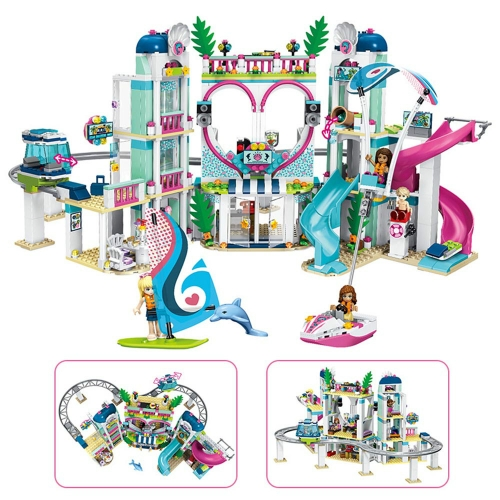 In Stock Girls Friends Heartlake City Resort  Building Block Brick 1017 PCS  41347 01068   MOC Toys Gifts