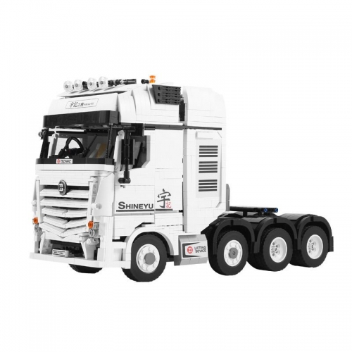 In stock creator Technic ShineYU:Container Fully RC Benz ACTROS 4163 Building Blocks Device Bricks DIY Toys for Childre
