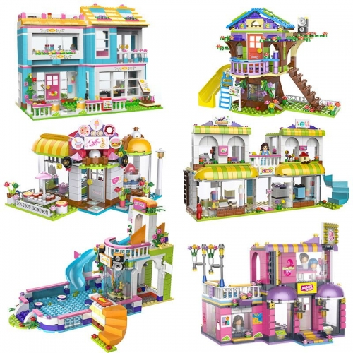 In Stock Girls Friends  Diy Building Block Brick Children   41101  3040 01045