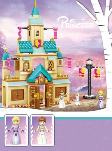 In Stock Girls Friends Arendelle Castle Building Block Brick 360 PCS  41167  J70003 toys gifts moc