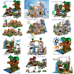 In Stock My World Minecraft Model Building Blocks 10019 Toys  Bricks Moc Children Gifts