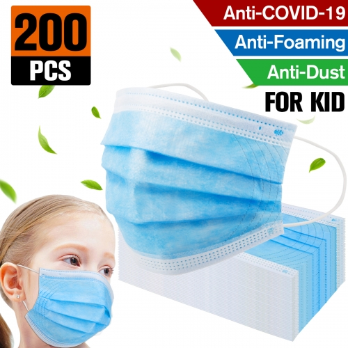 200 pack Factory sale Kids Mask Disposable Protective Mask Safety Masks Children Prevent Disease Mask