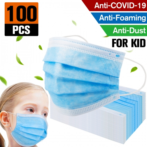 100 pack Factory sale Kids Mask Disposable Protective Mask Safety Masks Children Prevent Disease Mask