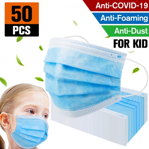 50 pack Factory sale Kids Mask Disposable Protective Mask Safety Masks Children Prevent Disease Mask
