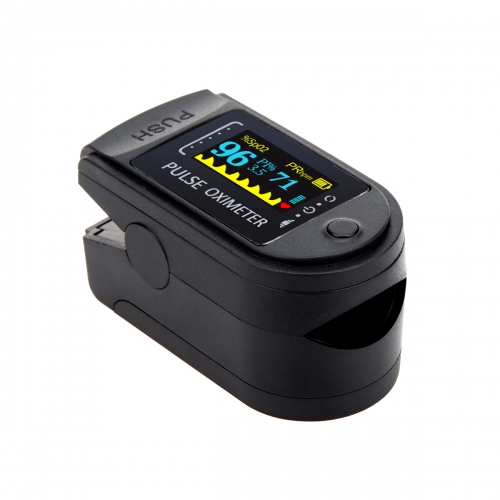 Pulse Oximeter Fingertip,Blood Oxygen Saturation Monitor with Pulse Rate and Spo2 Reading (Black)