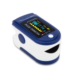 Pulse Oximeter Fingertip,Blood Oxygen Saturation Monitor with Pulse Rate and Fast Spo2 Reading(Blue)