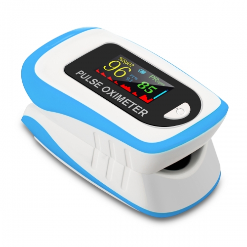 Pulse Oximeter Fingertip,Blood Oxygen Saturation Monitor,Heart Rate Monitor and SpO2 Levels-Blue