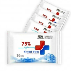 Alcohol Detergent Wet Wipes, 50pcs 75% Alcohol Wet Wipes Suitable for All-Purpose ( 5 Pack, 10pcs)