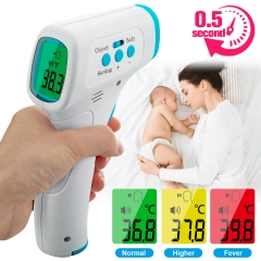 Infrared Forehead Thermometer Digital Forehead  with LCD Display Readings Kids Baby Non Touch(T9)