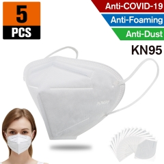 5pcs KN95 Dust Masks Full Face Mask with Free Adjustable Headgear KN95 Full Face Mask Dust Masks