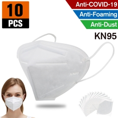 10 pcs KN95 Dust Masks Full Face Mask with Free Adjustable Headgear KN95 Full Face Mask Dust Masks