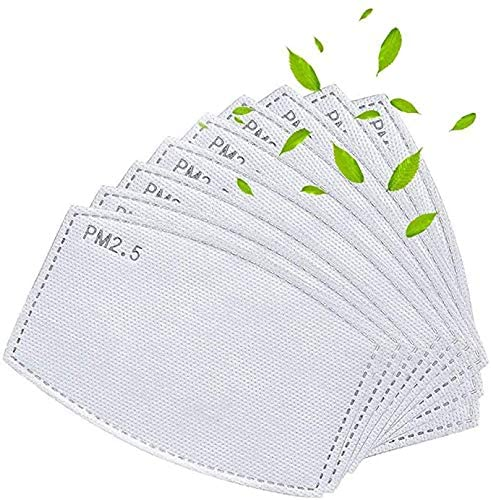20PCS Activated Carbon Filters 5 Layers Replaceable Filters Paper for Mesh or Neoprene Mask
