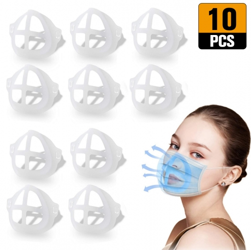 3D Mask Bracket Internal Support Holder Frame Nose Breathing Smoothly Face Mask Accessories for Running for adult(10pcs)