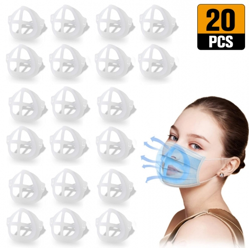 3D Mask Bracket Internal Support Holder Frame Nose Breathing Smoothly Face Mask Accessories for Running for adult(20pcs)