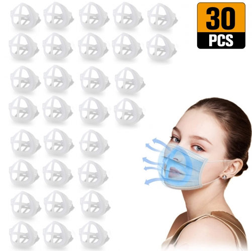 3D Mask Bracket Internal Support Holder Frame Nose Breathing Smoothly Face Mask Accessories for Running for adult(30pcs)