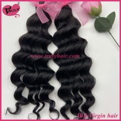 100% Virgin hair 10A quality hair deep wave 1 pc