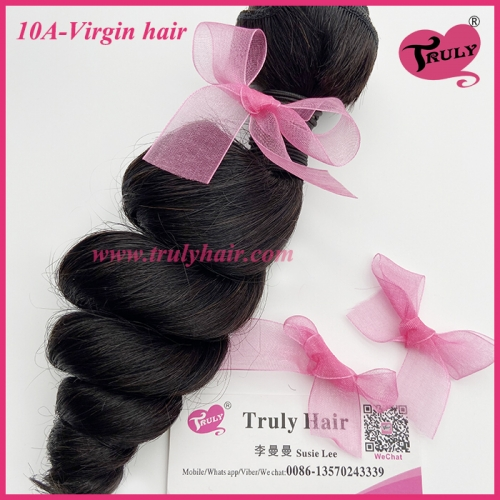 100% Virgin hair 10A quality hair loose wave 1 pc