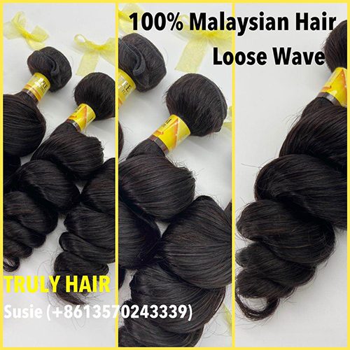 10A 100% Malaysian hair loose wave 1 pc
