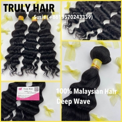10A 100% Malaysian hair deep wave 1 pc