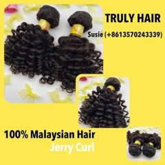 10A 100% Malaysian hair jerry curl 1 pc