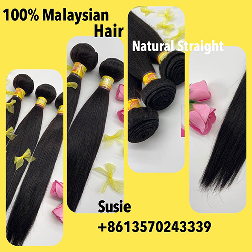 10A 100% Malaysian hair natural straight 1 pc