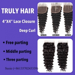 50% off 4X4 lace closure deep curl
