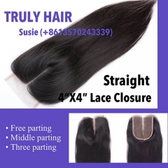 50% off 4X4 lace closure Natural striaght