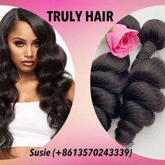 10A 100% human hair loose wave 1 pc