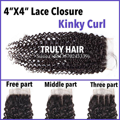 50% off 4X4 lace closure kinky curl