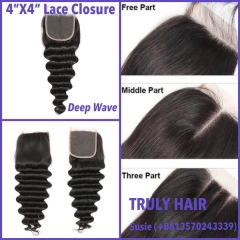 50% off 4X4 lace closure deep wave