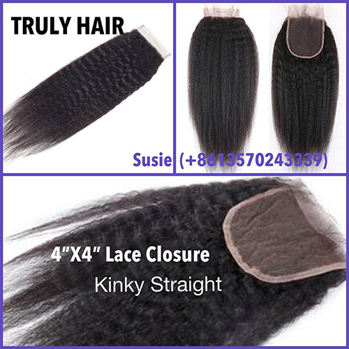 50% off 4X4 lace closure kinky straight