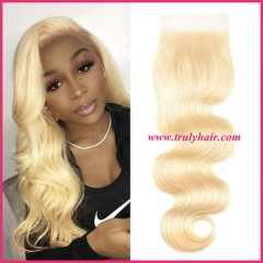 4x4 color 613 closure body wave