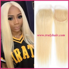 4x4 color 613 closure natural straight