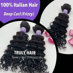 10A 100% Italian hair deep curly 1 pc