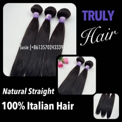 10A 100% Italian hair natural straight 1 pc