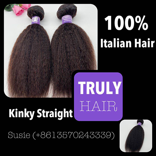 10A 100% Italian hair Kinky straight 1 pc