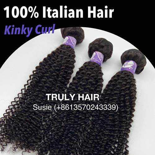 10A 100% Italian hair kinky curl 1 pc