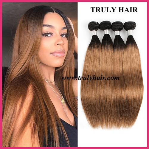 Color 1B/30 hair natural straight