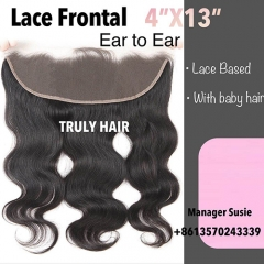 4x13 frontal body wave natural color