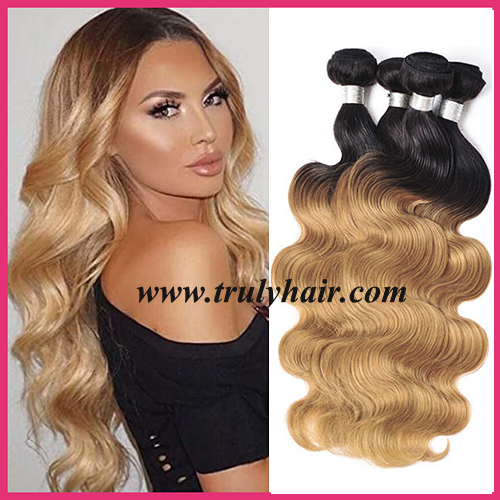 Color 1B/27 hair body wave