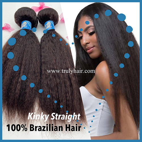 50% off 10A Brazilian hair kinky straight/ Yaki straight 1 pc