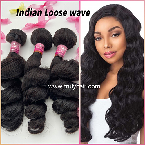 10A 100% indian hair loose wave 1 pc