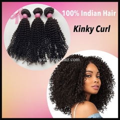 10A 100% indian hair kinky curl 1 pc