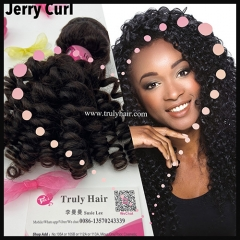 10A 100% indian hair Jerry curl 1 pc