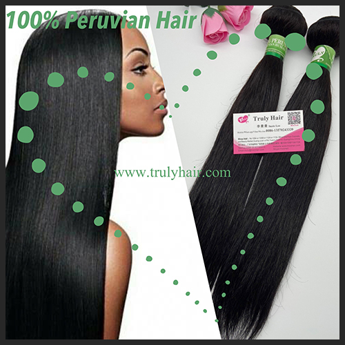 10A 100% Peruvian hair natural straight 1 pc