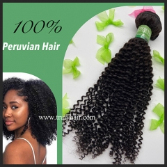 10A 100% Peruvian hair Kinky curl 1 pc