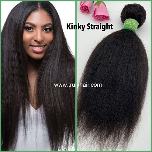 10A 100% Peruvian hair Kinky straight 1 pc