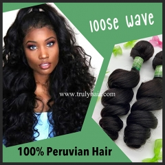 10A 100% Peruvian hair loose wave 1 pc