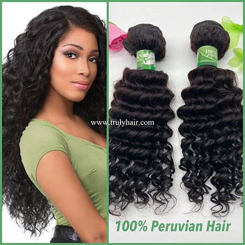 10A 100% Peruvian hair deep curl 1 pc