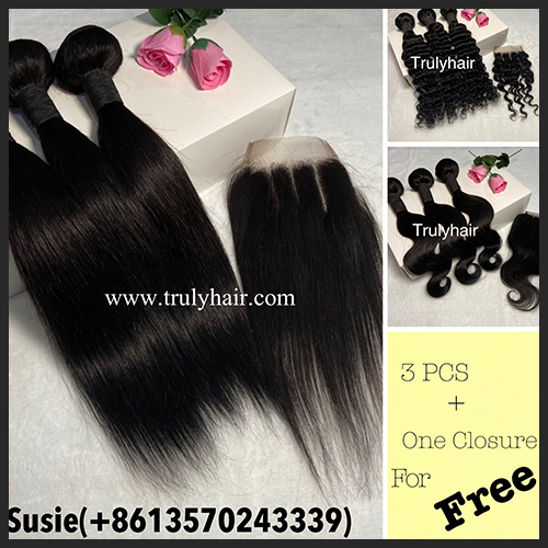 promotion hair buy 3 get 1 free closure